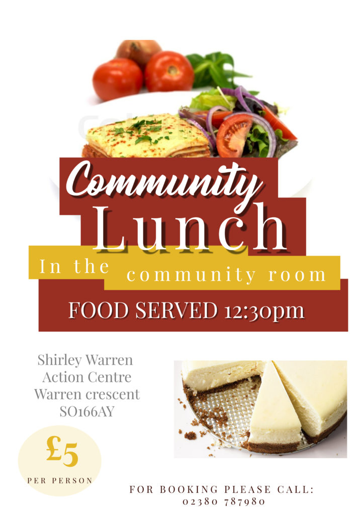 Lunch Club @ Shirley Warren Action Centre